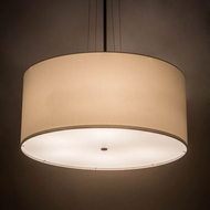 Meyda Tiffany 180894 Cilindro White Oil Rubbed Bronze Drum Drop Ceiling Light Fixture