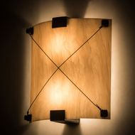 Meyda Tiffany 180946 Maxton ADA Coffee Bean / Faux Alabaster Wall Light Sconce