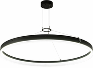 Meyda Tiffany 181075 Anillo Apollonia Contemporary Textured Black Clear Frosted Acrylic LED Pendant Lamp