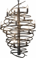 Meyda Tiffany 181100 Cyclone Modern Pewter Hanging Chandelier