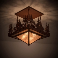 Meyda Tiffany 181393 Wildlife at Pine Lake Country Rust / Silver Mica Home Ceiling Lighting