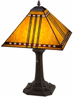 Meyda Tiffany 181598 Prairie Corn Tiffany Mahogany Bronze Table Lamp
