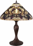 Meyda Tiffany 181599 Tiffany Mahogany Bronze Table Light