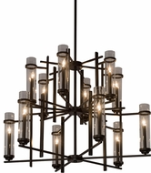 Meyda Tiffany 181625 Landon Contemporary Bronze Chandelier Light