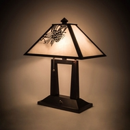 Meyda Tiffany 182011 Winter Pine Rustic Craftsman Brown Table Lamp Lighting