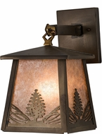 Meyda Tiffany 182078 Mountain Pine Antique Copper / Silver Mica Sconce Lighting