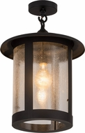 Meyda Tiffany 182360 Fulton Prime Old Wrought Iron Zasdy Indoor / Outdoor Overhead Lighting Fixture