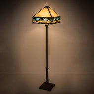 Meyda Tiffany 182377 Camel Mission Tiffany Craftsman Brown Highlighted Floor Lighting