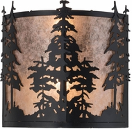 Meyda Tiffany 182748 Tall Pines Country Textured Black / Silver Mica Lighting Sconce