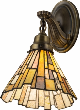 Meyda Tiffany 182947 Delta Jadestone Tiffany Antique Lamp Sconce
