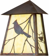 Meyda Tiffany 183213 Seneca Song Bird Beige Vintage LED Wall Light Fixture
