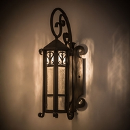 Meyda Tiffany 183284 Caprice Traditional Weathered Red Roof Exterior Wall Light Fixture