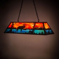 Meyda Tiffany 183351 Moose at Lake Textured Black Island Lighting