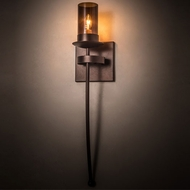 Meyda Tiffany 183448 Bechar Mahogany Bronze Wall Lamp