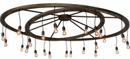 Meyda Tiffany 183648 Donner Modern Antique Hammered Gold Chandelier Lamp