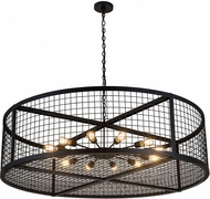 Meyda Tiffany 185029 Paloma Golpe Contemporary Textured Black Hanging Chandelier