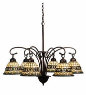 Meyda Tiffany 18528 Roman 6 Dropped Light Tiffany Chandelier