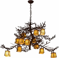 Meyda Tiffany 185796 Pine Branch Valley View Rust Wrought Iron Halogen Chandelier Lighting