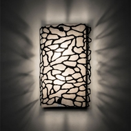 Meyda Tiffany 185851 Parmecia Modern Black Textured LED Wall Lighting