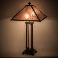 Meyda Tiffany 186216 Van Erp Timeless Bronze / Silver Mica Table Top Lamp