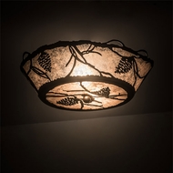 Meyda Tiffany 186234 Whispering Pines Country Silver Mica Oil Rubbed Bronze Ceiling Light Fixture
