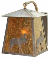 Meyda Tiffany 18675 Stillwater Lone Moose 14  Wide Exterior Lighting Wall Sconce