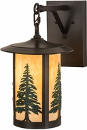 Meyda Tiffany 186808 Fulton Tall Pines Country Brown Lighting Sconce