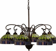 Meyda Tiffany 18693 Candice 6 Light Tiffany Chandelier