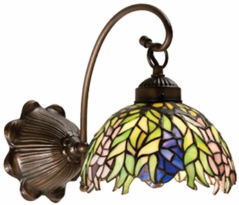 Meyda Tiffany 18695 Honey Locust 1 Light Tiffany Wall Sconce Lighting Fixture