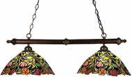 Meyda Tiffany 18818 Spiral Tulip 2 Light Tiffany Kitchen Island Ceiling Light
