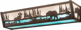 Meyda Tiffany 188351 Moose & Black Bear Country Mahogany Bronze Bath Lighting