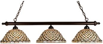 Meyda Tiffany 18848 Diamond & Jewel Tiffany Mahogany Bronze Island Light Fixture