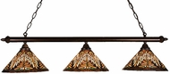 Meyda Tiffany 18860 Navajo Cone 3 Light Kitchen Island Ceiling Light