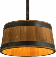 Meyda Tiffany 188651 Whiskey Barrel Country Drum Hanging Lamp