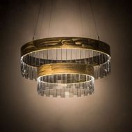 Meyda Tiffany 188823 Cilindro Illusion Modern Clear Smoked Glass Brass LED Lighting Pendant