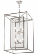 Meyda Tiffany 188997 Kitzi Box Clear Glass Nickel Foyer Light Fixture