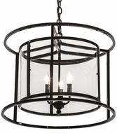 Meyda Tiffany 189001 Kitzi Cilindro Crystal Idalight Mirror Black Foyer Lighting Fixture
