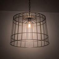 Meyda Tiffany 189147 Cilindro Golpe Modern Matte Clear�over Steel Pendant Light Fixture