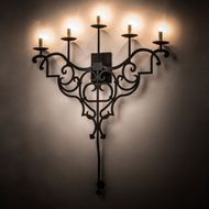 Meyda Tiffany 189167 Fleur De Lys Bronze Wall Light Fixture
