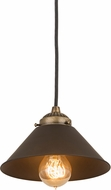 Meyda Tiffany 189320 Revival Chic Brown Mini Hanging Light Fixture