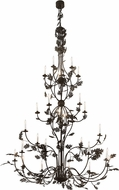 Meyda Tiffany 189564 Oak Leaf Rustic Textured Black Chandelier Light