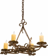 Meyda Tiffany 189728 Elianna Ivory Candle Covers Rustic Iron Mini Chandelier Lighting