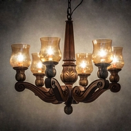 Meyda Tiffany 18983 Kendall Traditional Brown Chandelier Light