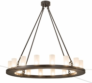 Meyda Tiffany 189843 Loxley Frosted Clear Glass Timeless Bronze Lighting Chandelier