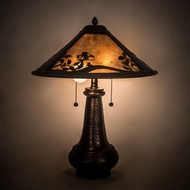 Meyda Tiffany 189960 Chip & Dale Mahogany Bronze Table Lamp Lighting