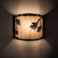 Meyda Tiffany 190069 Oak Leaf & Acorn Rustic Antique Copper Wall Light Fixture