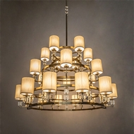 Meyda Tiffany 190159 Montecito Brass Tint LED Ceiling Chandelier