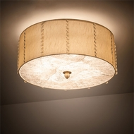 Meyda Tiffany 190168 Cilindro Brass Tint LED Flush Mount Lighting