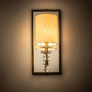 Meyda Tiffany 190176 Barfleur Brass Tint / Crystal LED Wall Lighting Sconce