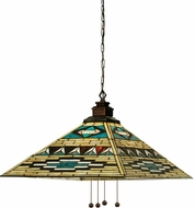Meyda Tiffany 19030 Valencia Mission Tiffany Ebna Amber Beige Pendant Lighting